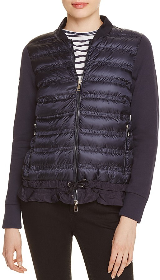 Moncler Moncler Quilted Down-Front Cardigan