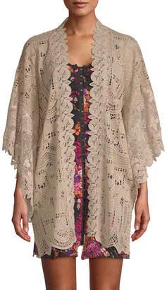 Anna Sui Cupid's Clouds & Scallop Lace Kimono