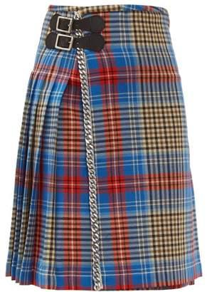 Charles Jeffrey Loverboy Loverboy Tartan Wool Kilt Midi Skirt - Womens - Beige Multi