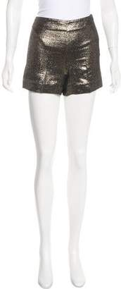Diane von Furstenberg Clean Simca Metallic Shorts