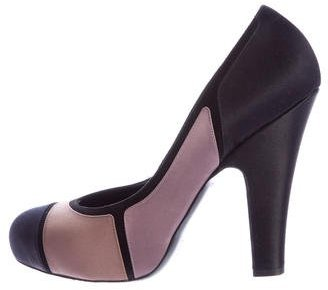 Bottega Veneta Bottega Veneta Colorblock Satin Pumps