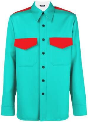 Calvin Klein high contrast Western shirt