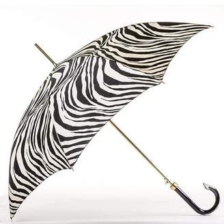 Black Zebra Print Italian Luxury Umbrella
