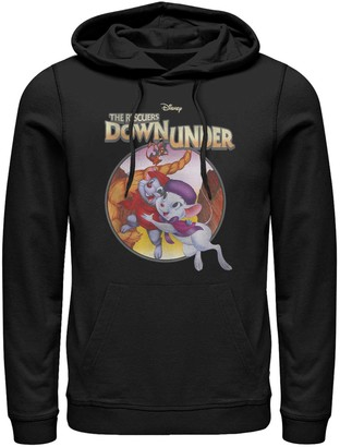 Licensed Character Men's Disney Rescuers Down Under Rescued Classic Poster Hoodie