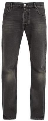 Balenciaga Straight Leg Jeans - Mens - Black