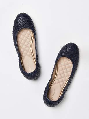 Mercer Leather Ballet Flat in Basket Weave