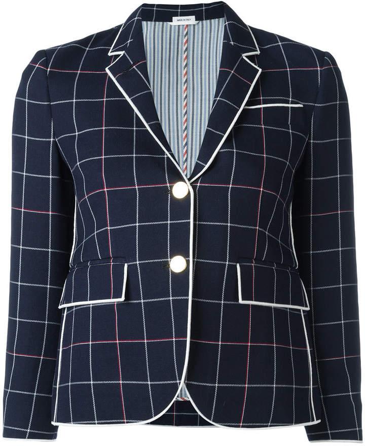 Thom Browne checked cropped blazer