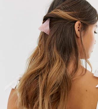 Designb London DesignB London pink resin detail triangle hair claw