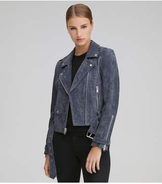 Andrew Marc Bowery Suede Moto Jacket