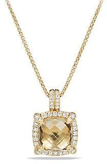 David Yurman Women's Châtelaineé Bezel Necklace with Champagne Citrine and Diamonds