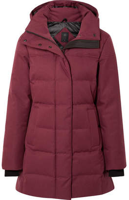 Canada Goose Annecy Hooded Quilted Shell Down Coat - Burgundy
