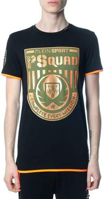 Philipp Plein Squad Black And Orange T-shirt