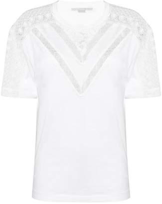 Stella McCartney lace insert T-shirt
