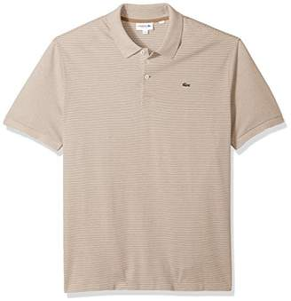 Lacoste Men's Short Sleeve Mille-Raye Mini Striped Pique Reg Fit Polo