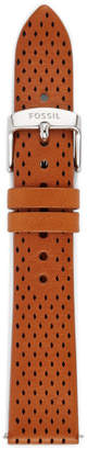 Fossil 18mm Diamond Perforated Leather Watch Strap