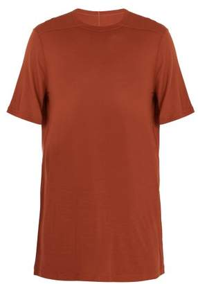 Rick Owens Crew Neck Jersey T Shirt - Mens - Orange