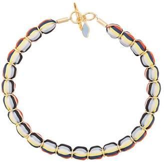 Diane von Furstenberg striped beaded necklace