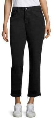 J Brand Ivy High-Rise Released Hem Cropped Straight-Leg Jeans