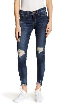 SP Black Decon Frayed Step Hem Skinny Jeans