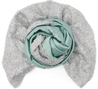 Julia Clancey - Bi Colour Silk Turban Hat - Womens - V626
