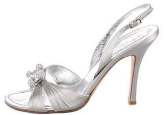 Rene Caovilla Satin Slingback Sandals