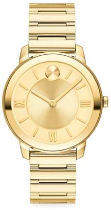 Movado Bold Yellow Gold Ion-Plated Stainless Steel Bracelet Watch