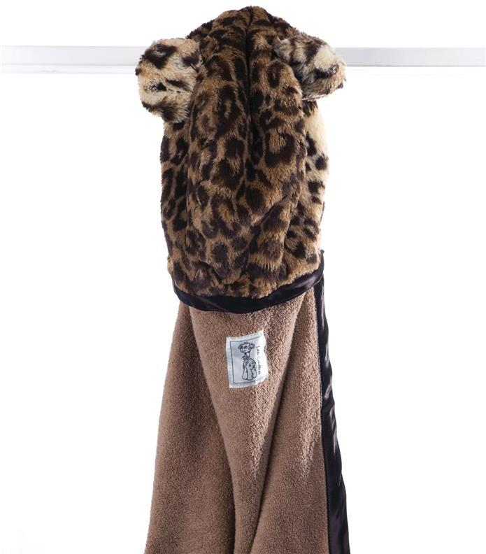Little Giraffe Luxe Leopard Hooded Towel