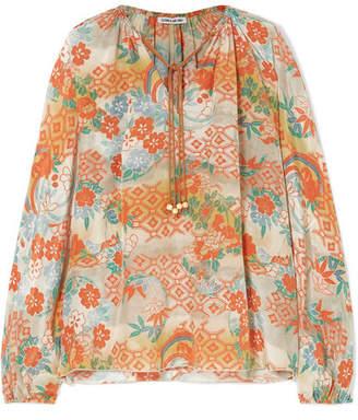 12f80ab25bb88c Elizabeth and James Chance Printed Silk Blouse - Marigold