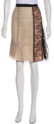 Nina Ricci Wool-Blend Knee-Length Skirt