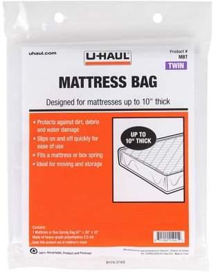"MBT U Haul U-Haul Twin Mattress Bag | Fits Twin Mattresses Up To 10"" Thick |"