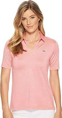 Lacoste Women's Sport Jersey Rayon Striped Golf Performance Polo