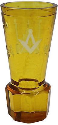 One Kings Lane Vintage Antique Masonic Cut Glass Bud Vase - Rose Victoria