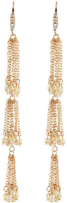 Lydell NYC Three-Tier Tassel Dangle Earrings