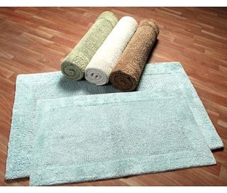 Chesapeake Merchandising, Inc Luxe Collection Cotton 2-piece Bath Rug Set - includes BONUS step out mat