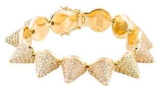 Eddie Borgo Pavé Ombré Crystal Large Cone Bracelet