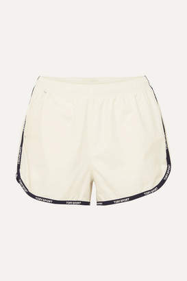 Tory Sport Banner Striped Shell Shorts - White