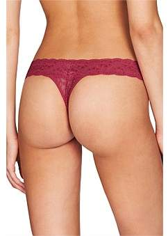 Heidi Klum Intimates Stretch Lace Thong