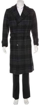 Louis Vuitton Plaid Wool Coat