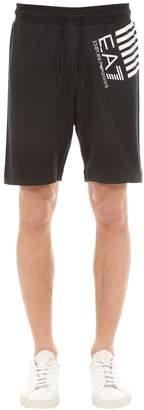 Emporio Armani Ea7 Logo Cotton Shorts