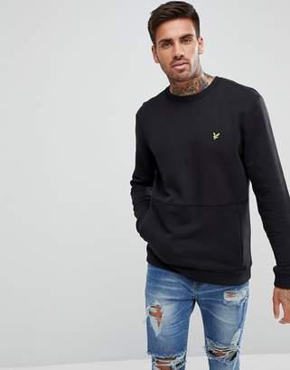 Lyle & Scott Sweatshirt With Front Pocket In Black