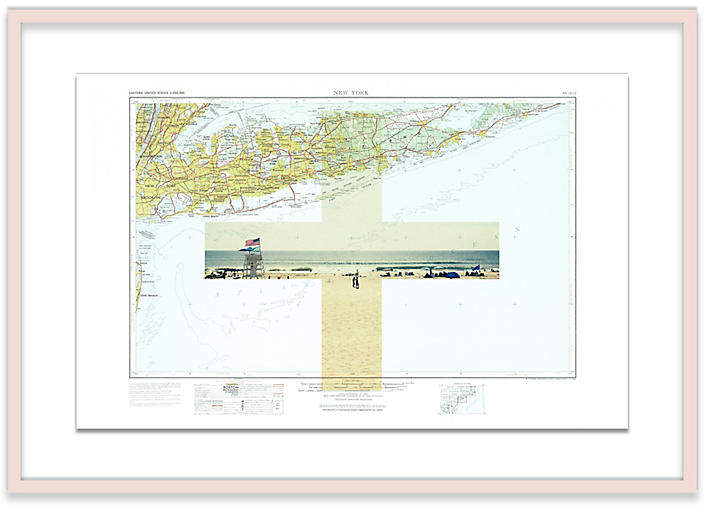 Montauk Map Christine Flynn Map - Natural - 30