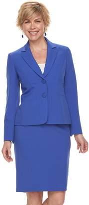 Le Suit Women's Crepe Jacket & Skirt Suit