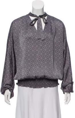 MICHAEL Michael Kors Printed Long Sleeve Blouse