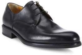 a. testoni Leather Lace-Up Derby Shoes