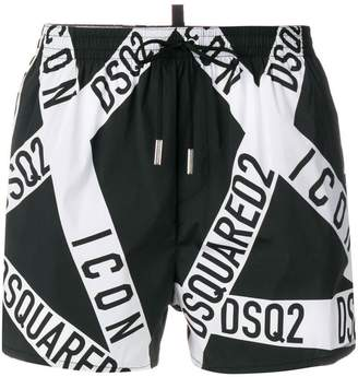 DSQUARED2 branded swim shorts