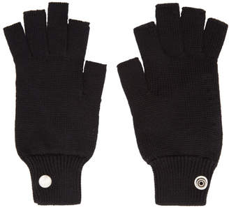 Rick Owens Black Mittens Gloves