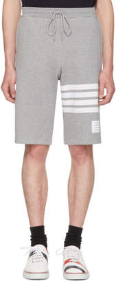 Thom Browne Grey Classic Four Bar Lounge Shorts