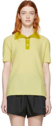 Marni Yellow Cashmere Polo