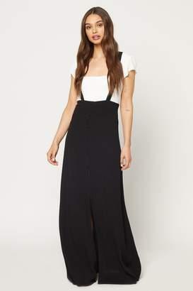 Flynn Skye Moss Maxi Skirt - Black Rayon