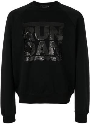 DSQUARED2 Run Dan sequin sweatshirt